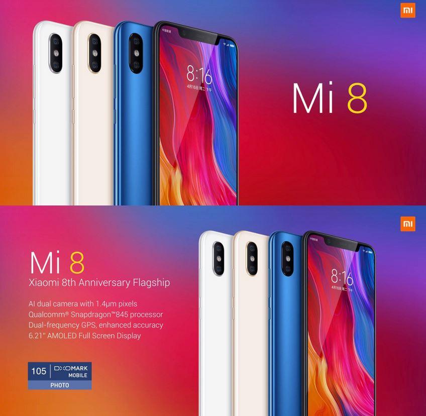 smartphone Xiaomi Mi 8 Mi8 pas cher