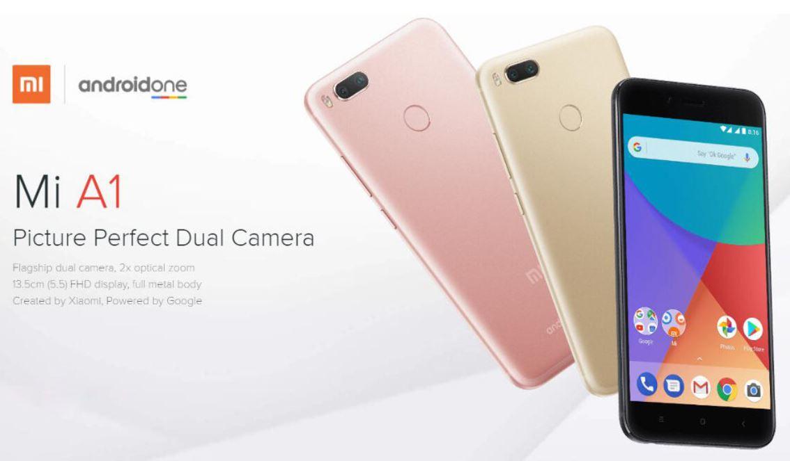 Smartphone Xiaomi Mi A1 noir