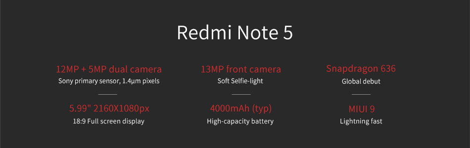 commander Redmi Note 5