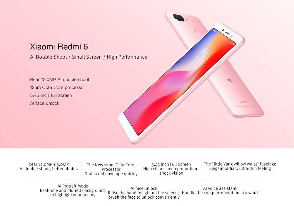 smartphone Xiaomi Redmi 6 Global Version