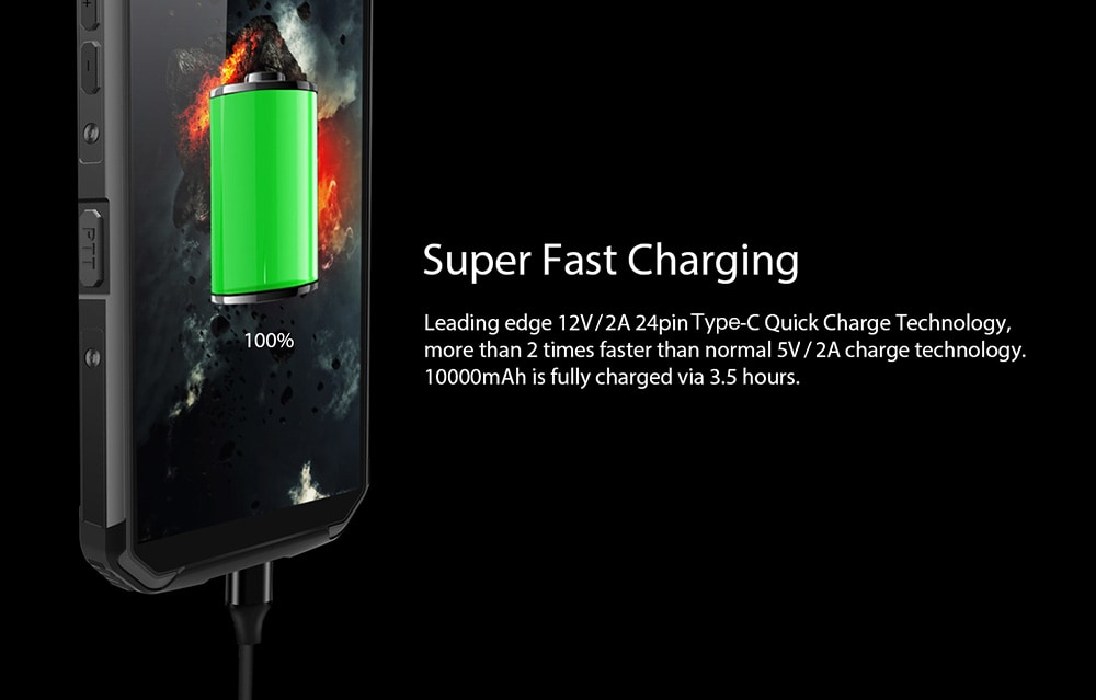 charge rapide blackview BV9500 Pro