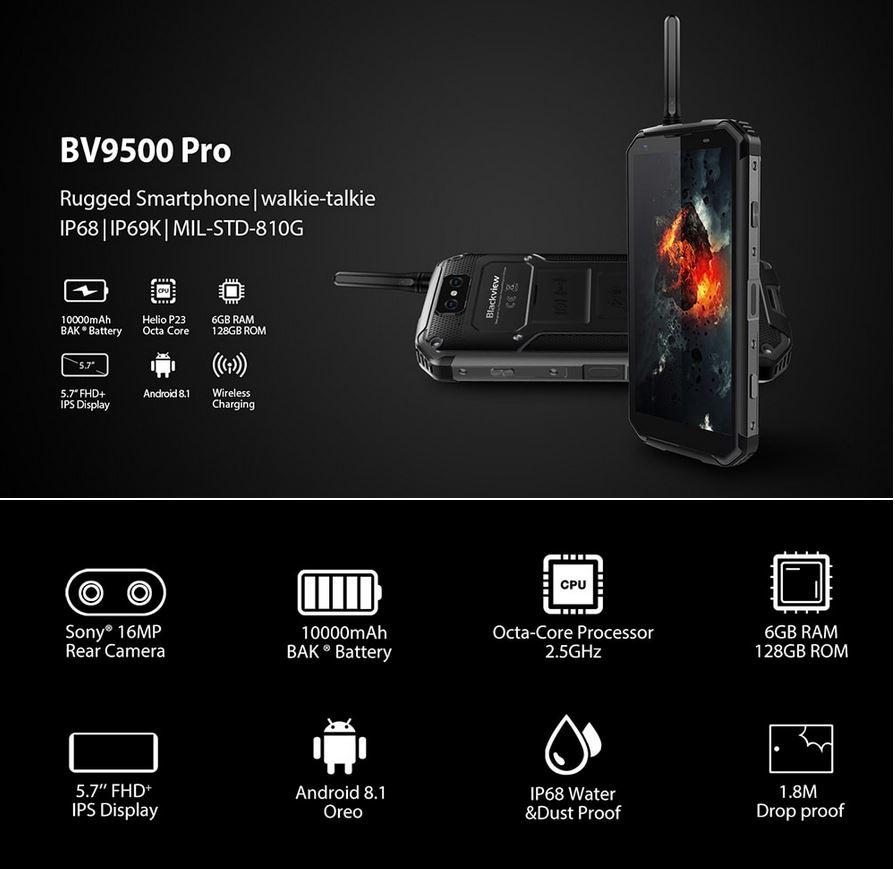 smartphone Blackview BV9500 Pro pas cher