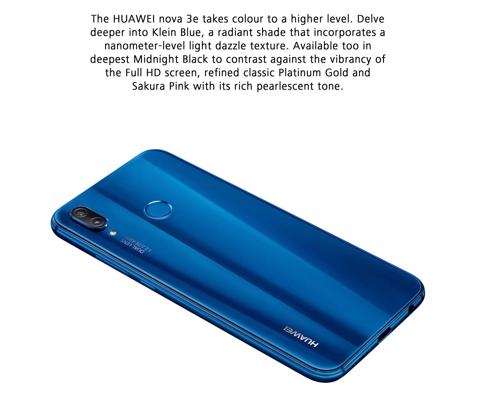 huawei p20 lite nova 3e bleu reconnaissance faciale charge rapide. Black Bedroom Furniture Sets. Home Design Ideas