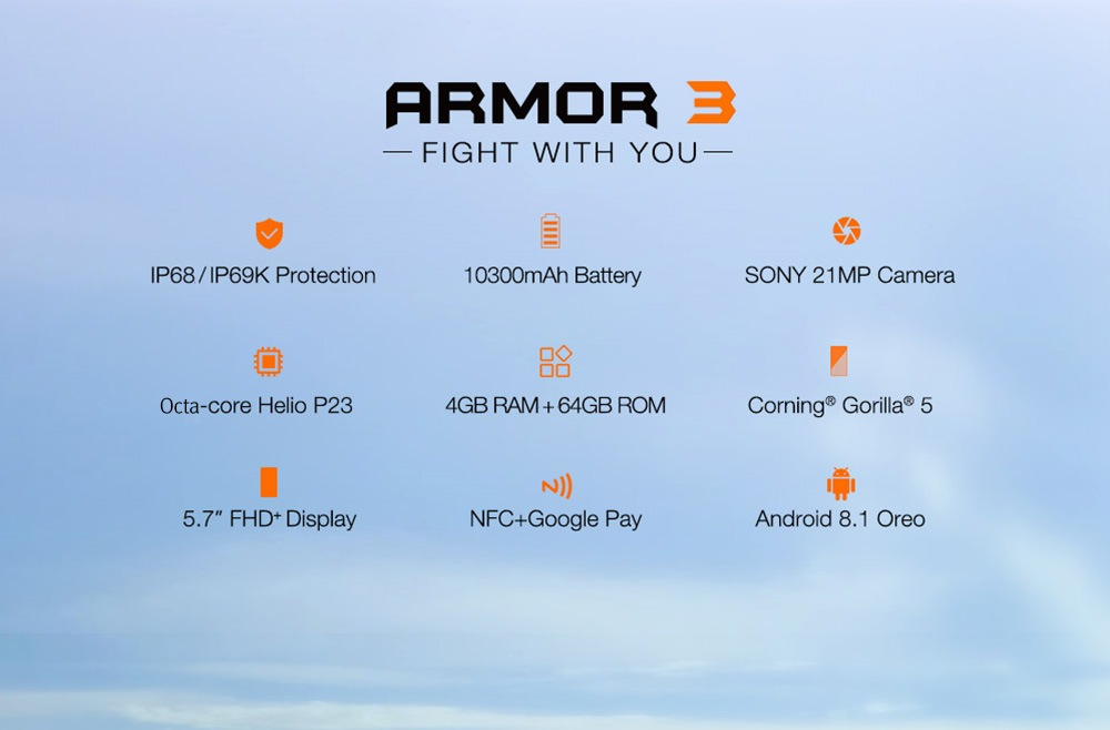 Smartphone Chinois Ulefone Armor 3