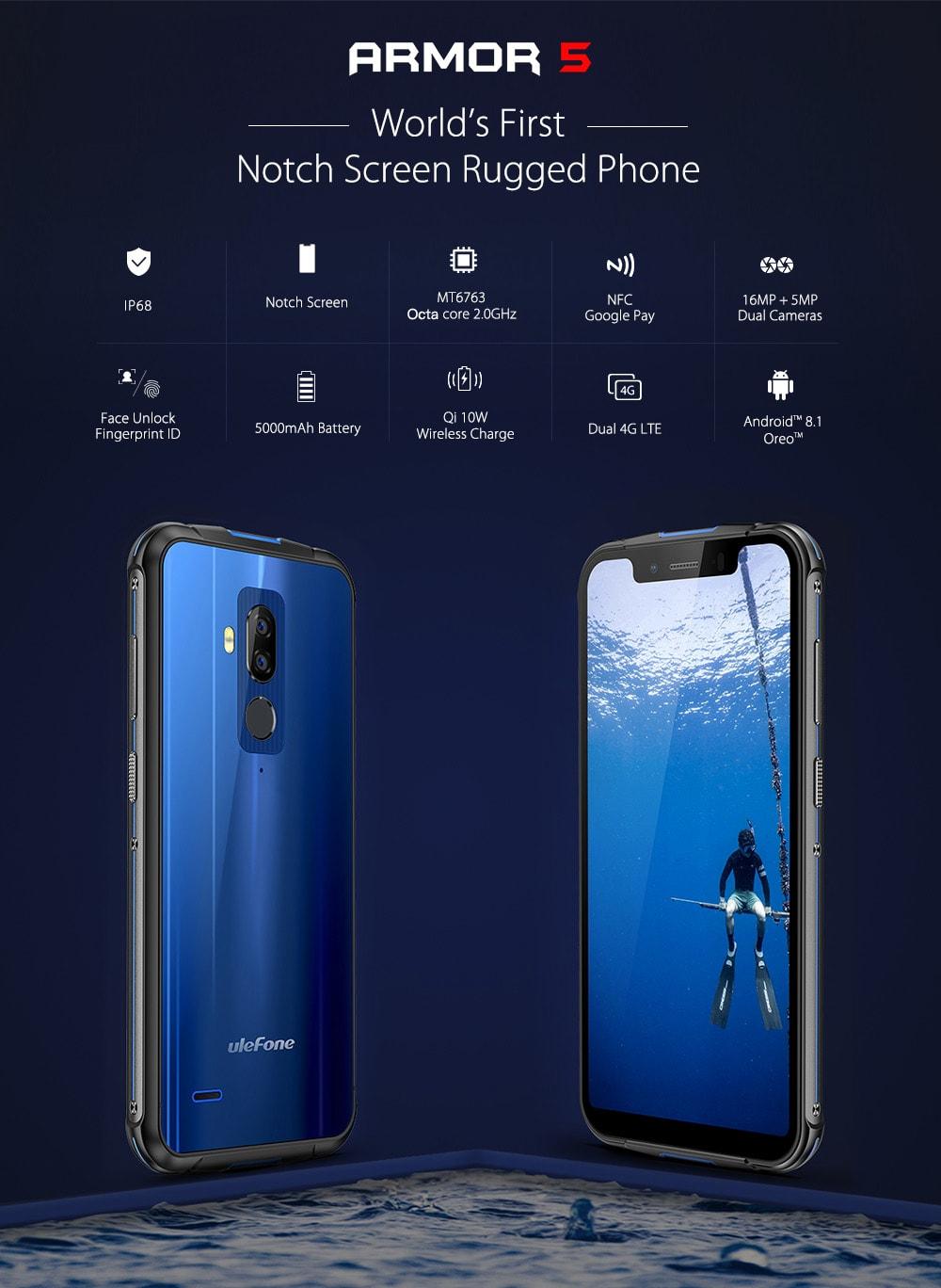 Smartphone Chinois Ulefone Armor 5