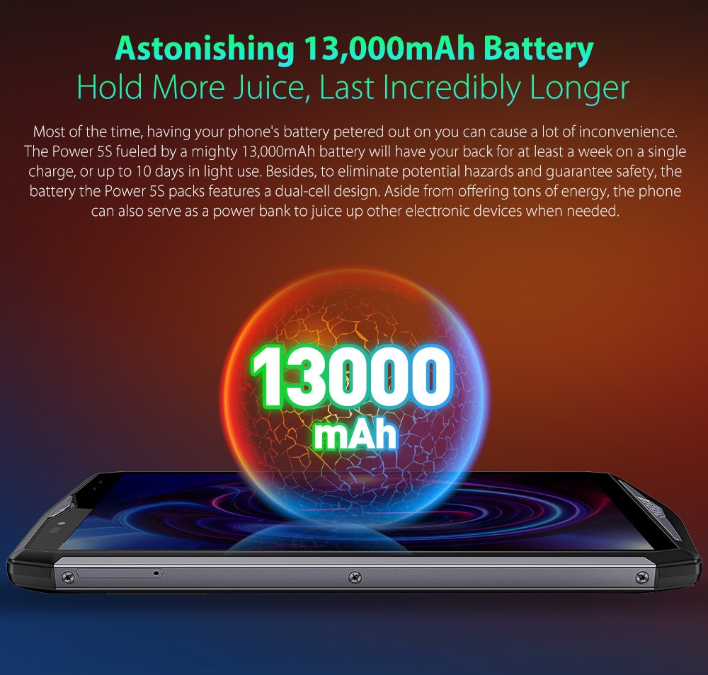 Batterie 13000mAh Ulefone Power 5S