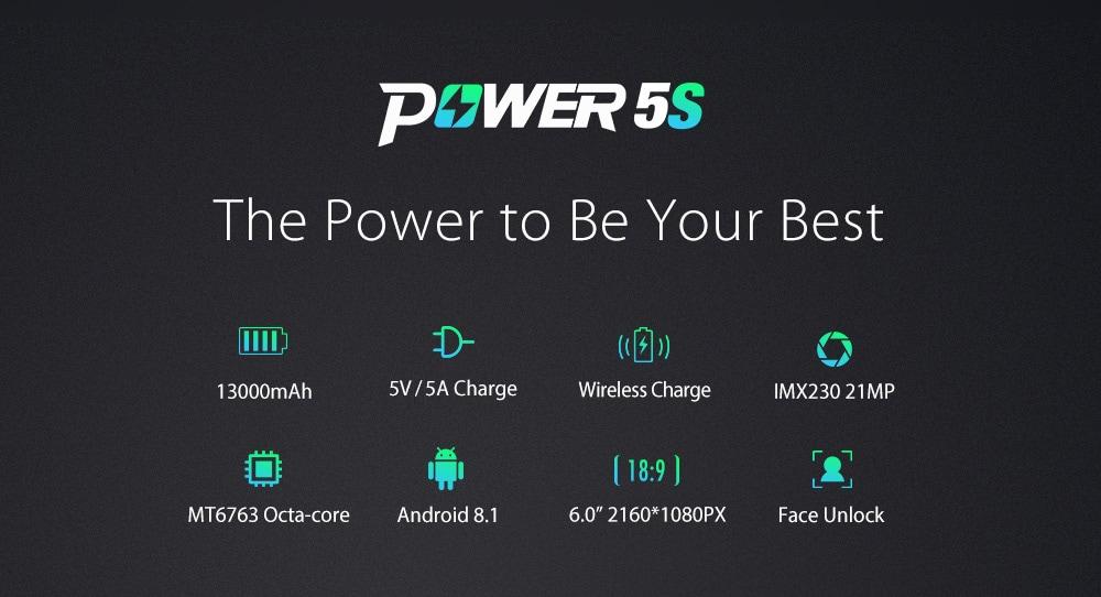 Caractéristiques Ulefone Power 5S