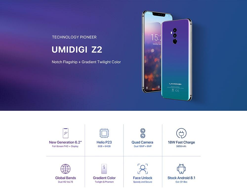Acheter Umidigi Z2 pas cher