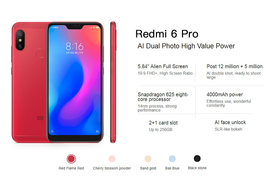 Fiche Technique Xiaomi A2 LITE