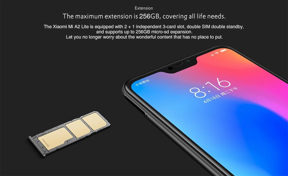 caractéristiques Xiaomi A2 LITE