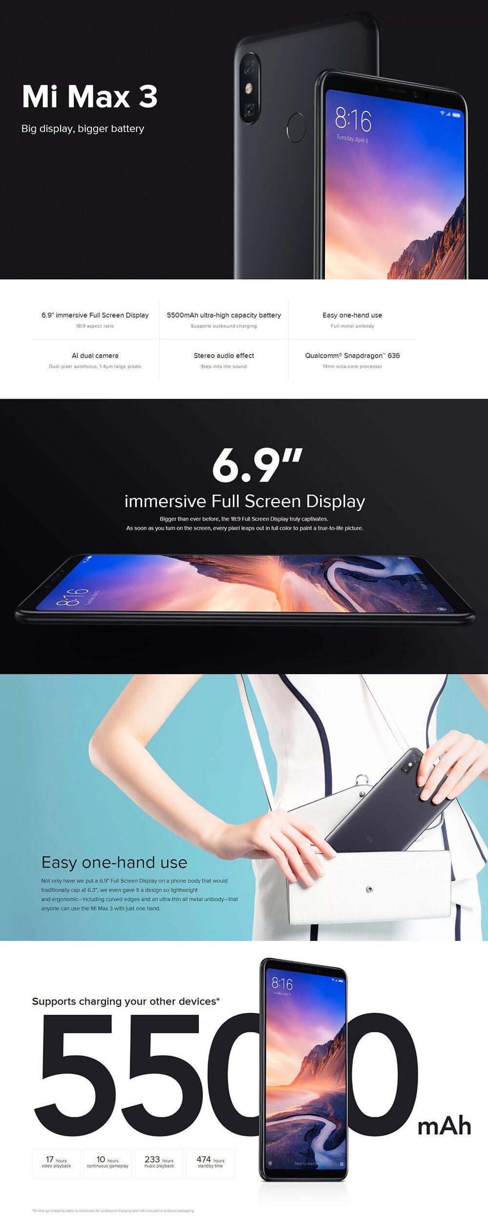 Acheter Xiaomi Mi Max 3