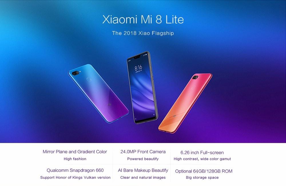 commander Xiaomi Mi 8 Lite pas cher
