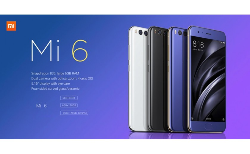 SMARTPHONE CHINOIS XIAOMI MI 6 THE BEST .