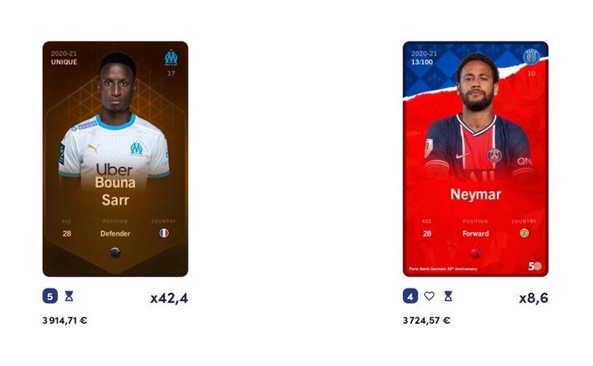 la crypto Blockchain sorare  qui réinvente les cartes de football à collectionner !